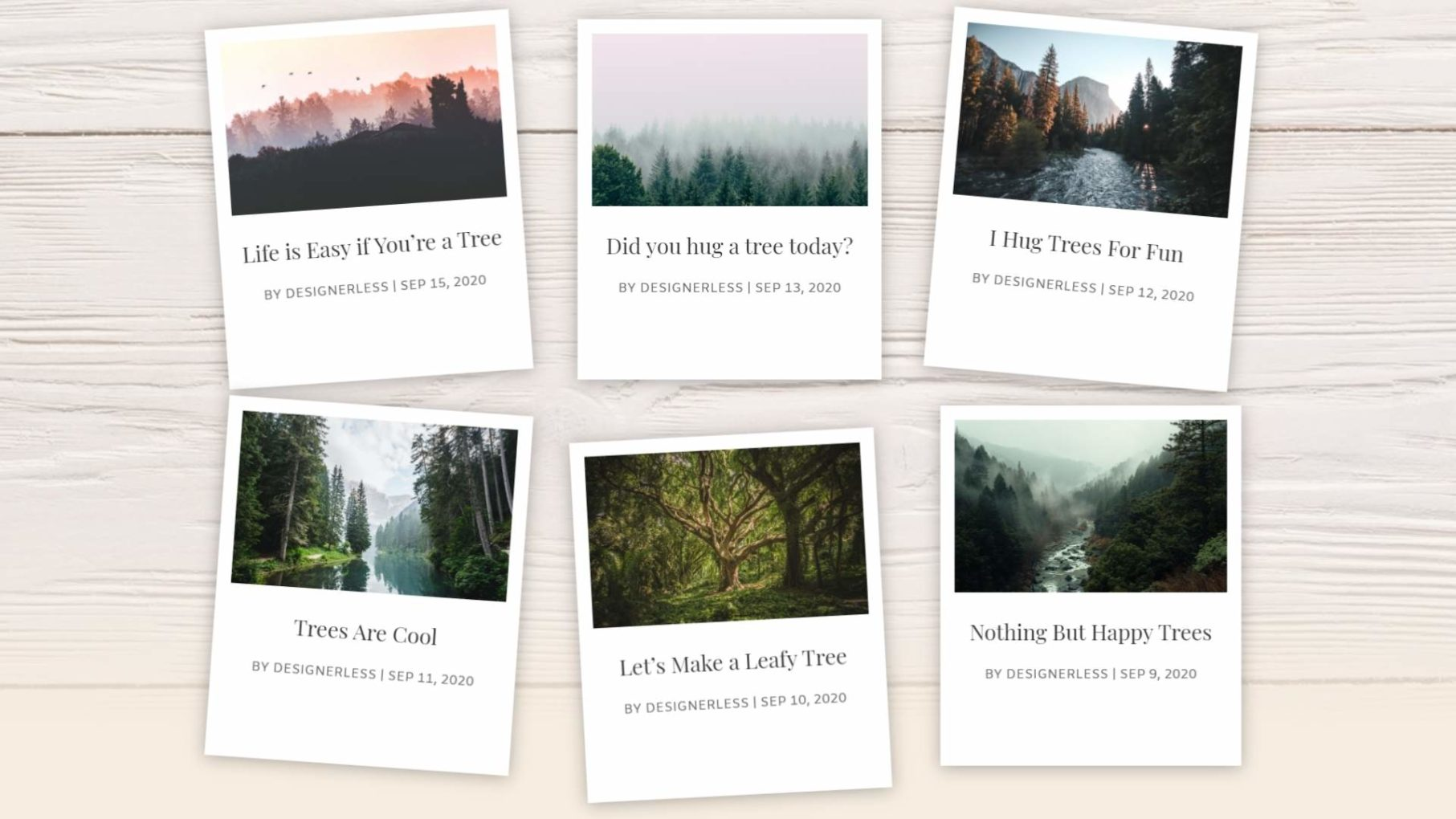 Image: Designerless: Polaroid Blog Cards Final Design