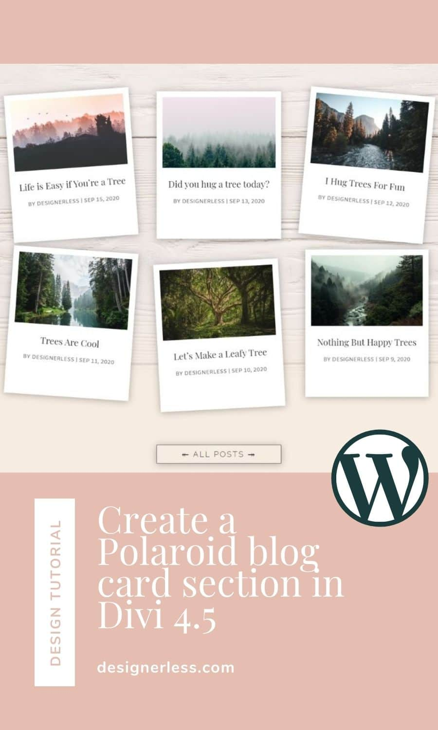 Pinterest Graphic: Designerless Polaroid Layout