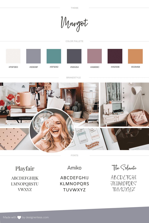 Margot - Brand Board for Feminine WordPress Sites
